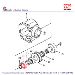 Multiquip 040006007 Bearing 6007,6007C3 MT-60H