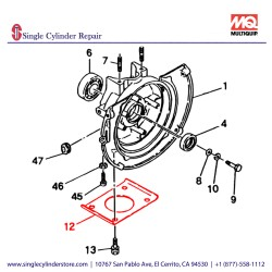 Multiquip 1061610113 Plate Base MT-70