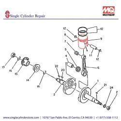 Multiquip 1062340211 Piston .25 Oversize MTR-80L