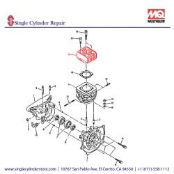 Multiquip 1571310113 Cylinder Head MT-70H,EC12D,MT85