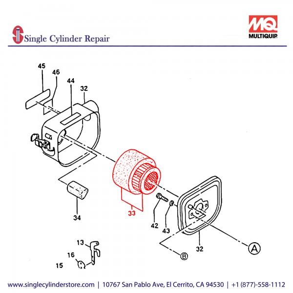 Multiquip 1573620101 Element Set EC12D MT-85