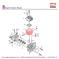 Multiquip 1611240111 Cylinder W/ Studs EC12D MT-85