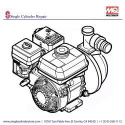 Multiquip QP2HLF Pump-Cent QP2H Less Frame for WT5C/WTE5C Water Trailer