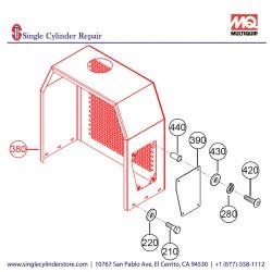 Multiquip 804702 Cover Engine MQ600HTB