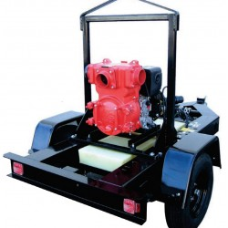 Multiquip QP4TKT28 Pump Trash QP4TK Trailer 28GAL