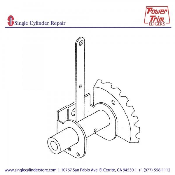 Power Trim Edger 322 Side Bracket