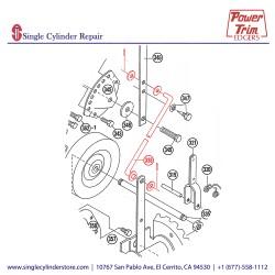 Power Trim Edger 338 Rod w/ Washers & Pins