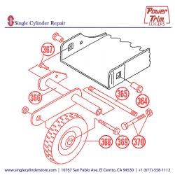 "Power Trim Edger 372 8"" Wheel Conversion Kit"